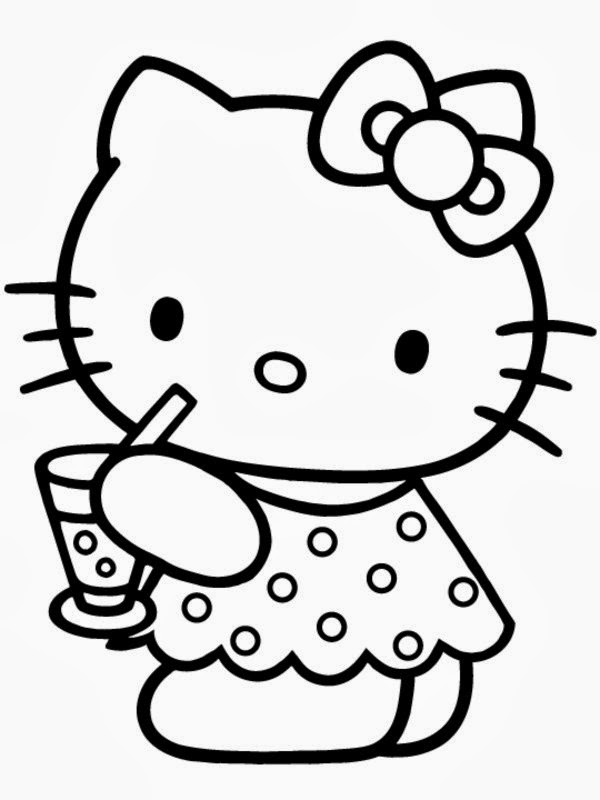 baby hello kitty coloring pages - lonely roses hello kitty