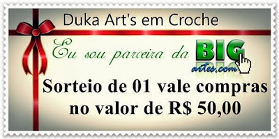 Sorteio no blog Duka Art's