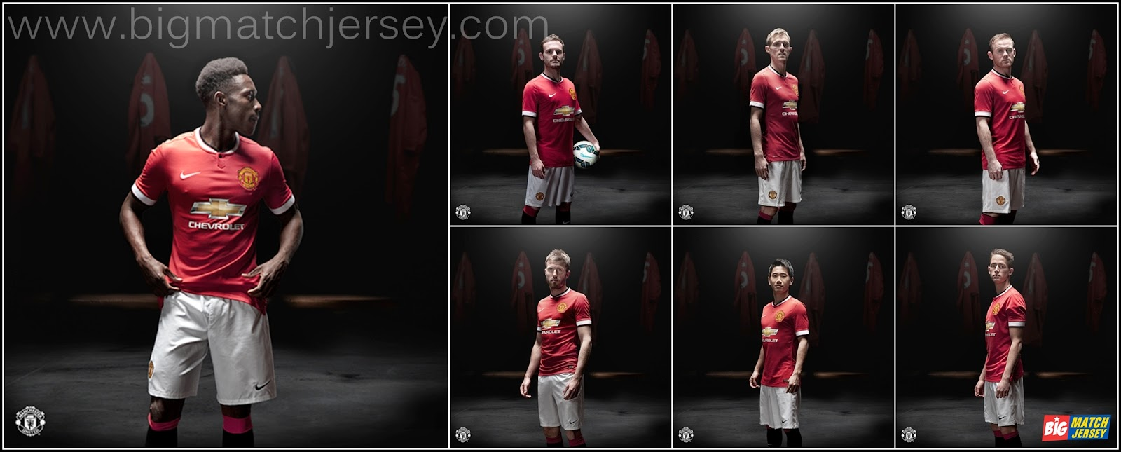 Football Jerseys 2014-2015 Official Team Manchester United Chevrolet Kits Release