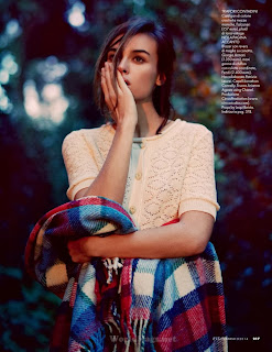 Kasia Smutniak Photoshoot by Photographer David Burto for Elle Magazine Italia February 2014
