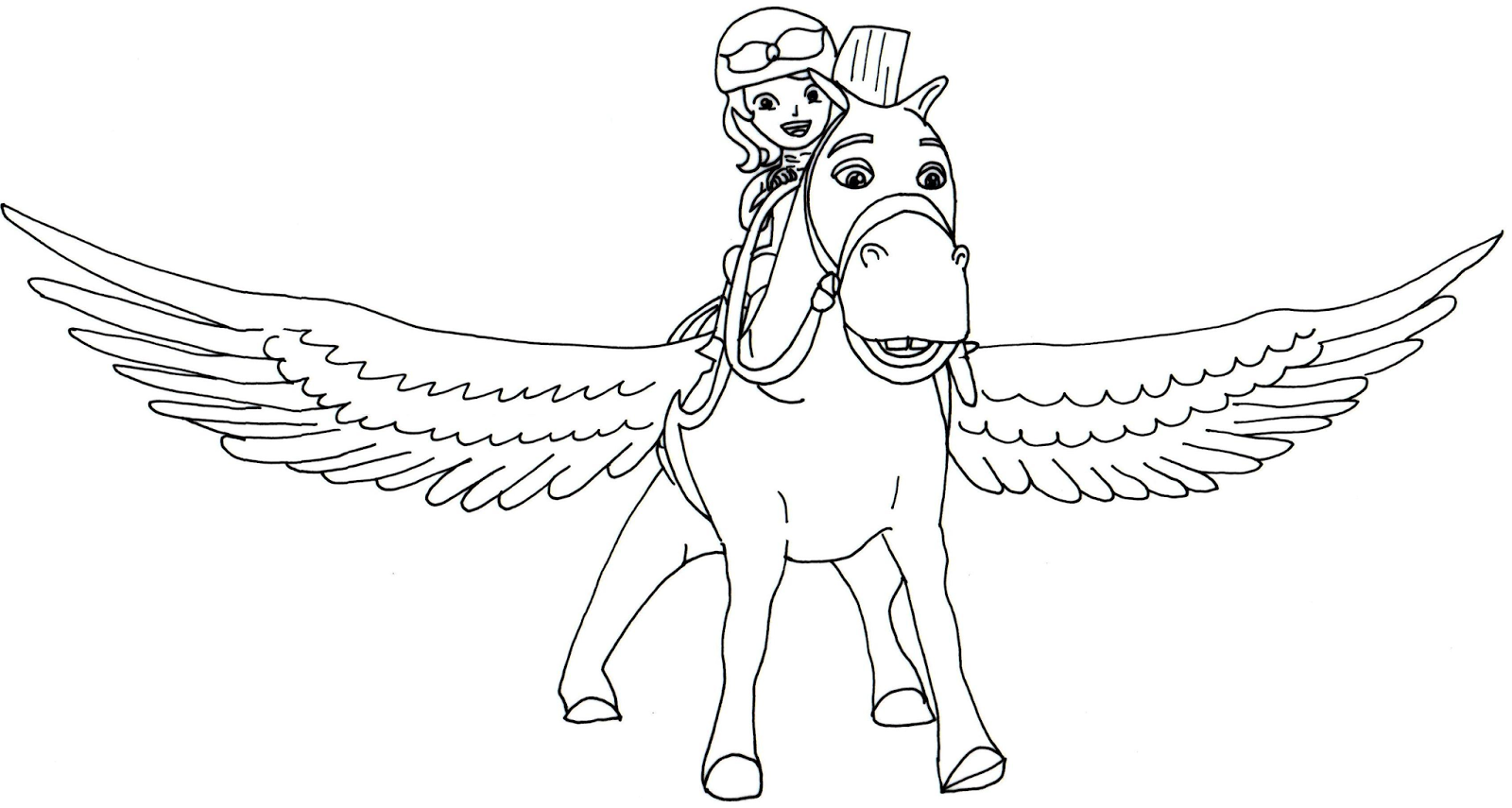 sofia the first coloring pages minimus flying sofia the first
