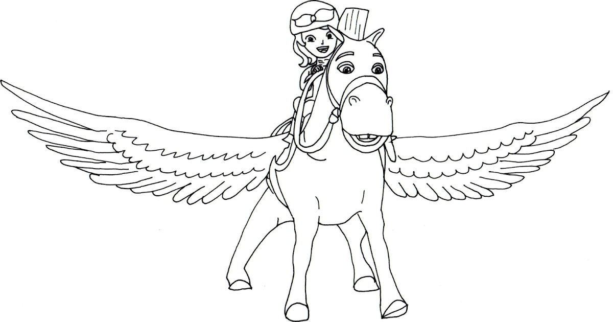 Sofia The First Coloring Pages Minimus Flying Sofia the