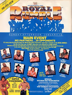 WWF / WWE ROYAL RUMBLE 1989 DVD cover poster