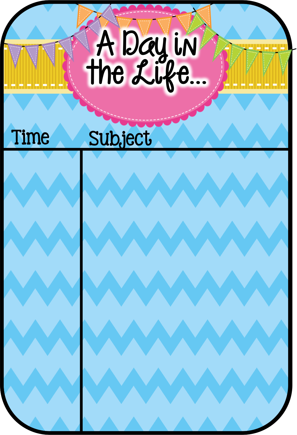 A Day Our Way- A schedule linky! - Where the Wild Things Learn