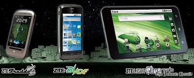 Harga dan Spesifikasi ZTE Light plus Tab Tablet, ZTE Blade And ZTE Freddo