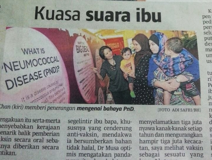 BERITA HARIAN 'KUASA SUARA IBU'
