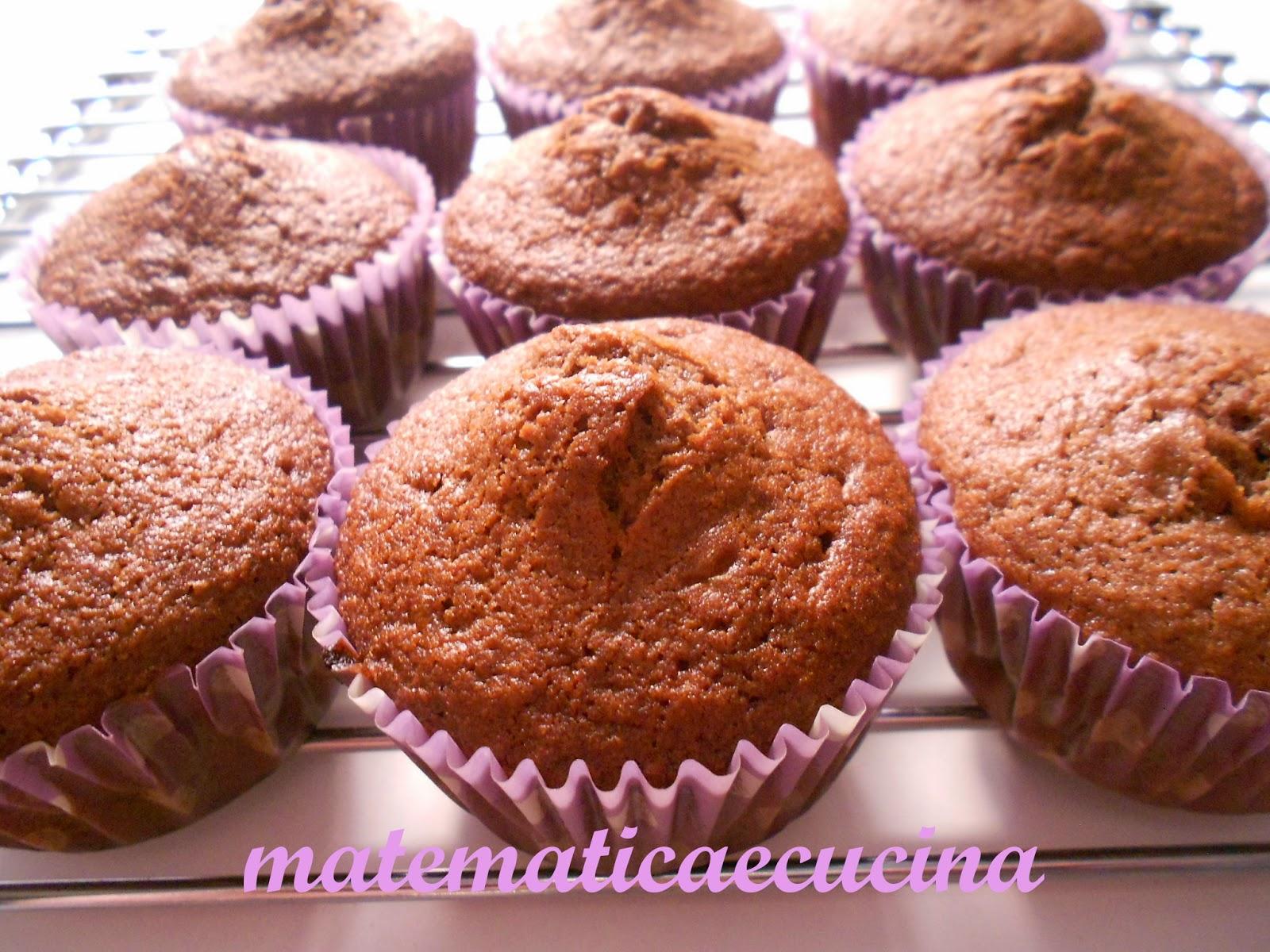 cupcakes con cacao e banane