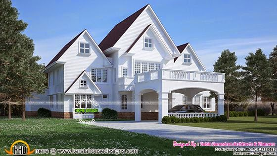 American style house in Kerala