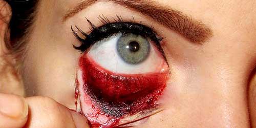 maquillaje ojos halloween desgarrado