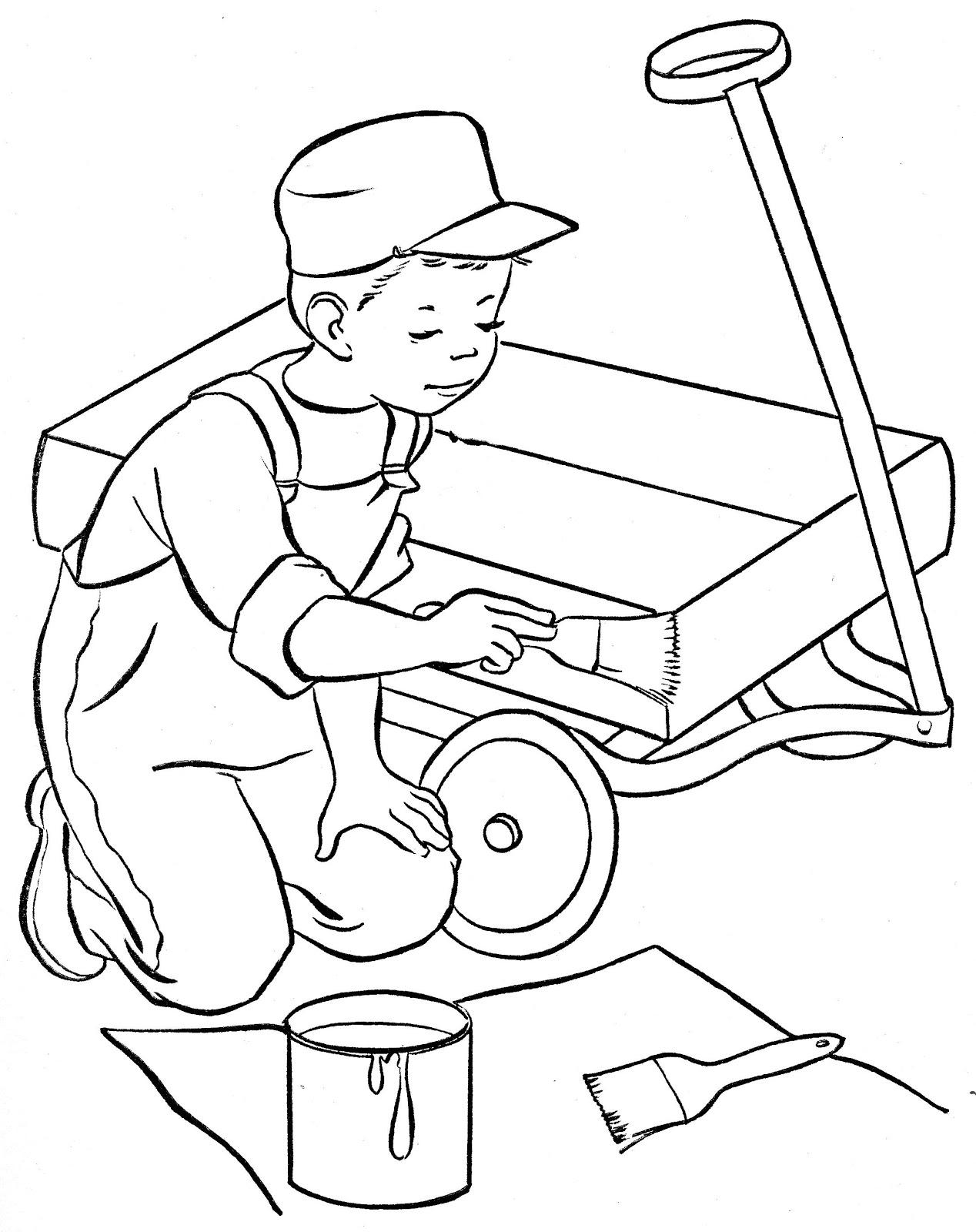 Desenhos para colorir ajudando em casa desenhos para colorir for Pintar casa