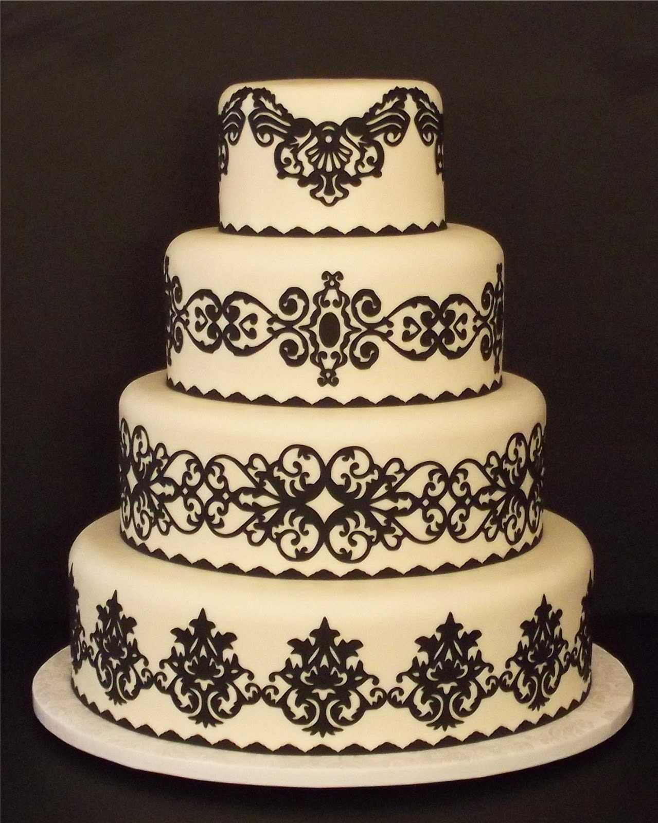 Wedding Cake Design Patterns : Creative Designs For Cakes: Pre-Cut Wedding Cake Designs