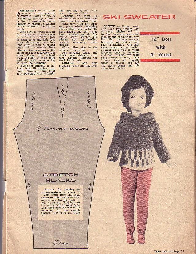 Knitting Patterns For Teenage Dolls : Herbies Doll Sewing, Knitting & Crochet Pattern ...
