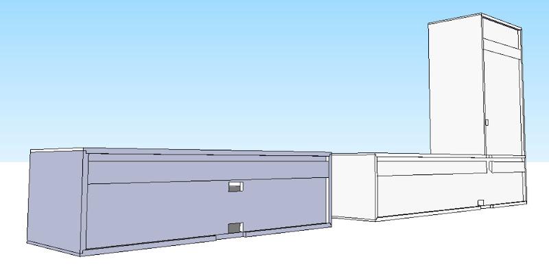 Floating Media Cabinet
