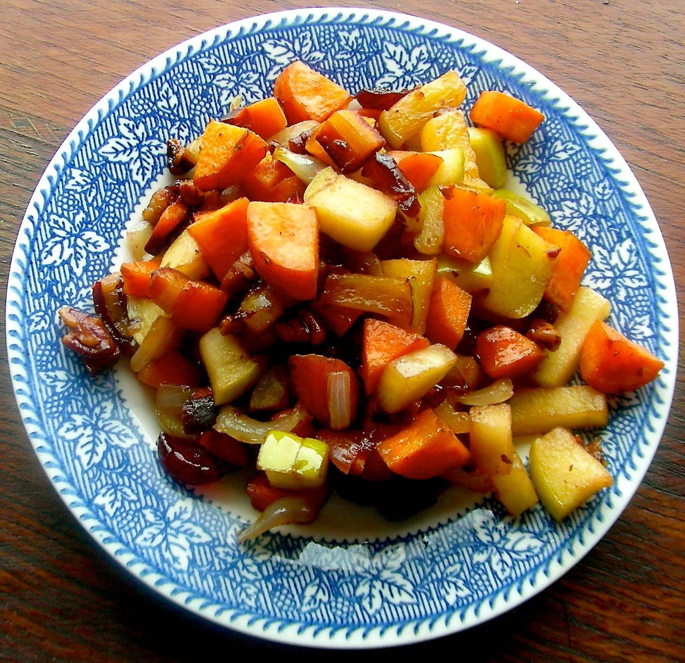 Sautéed Apples and Carrots with Roasted Pecans
