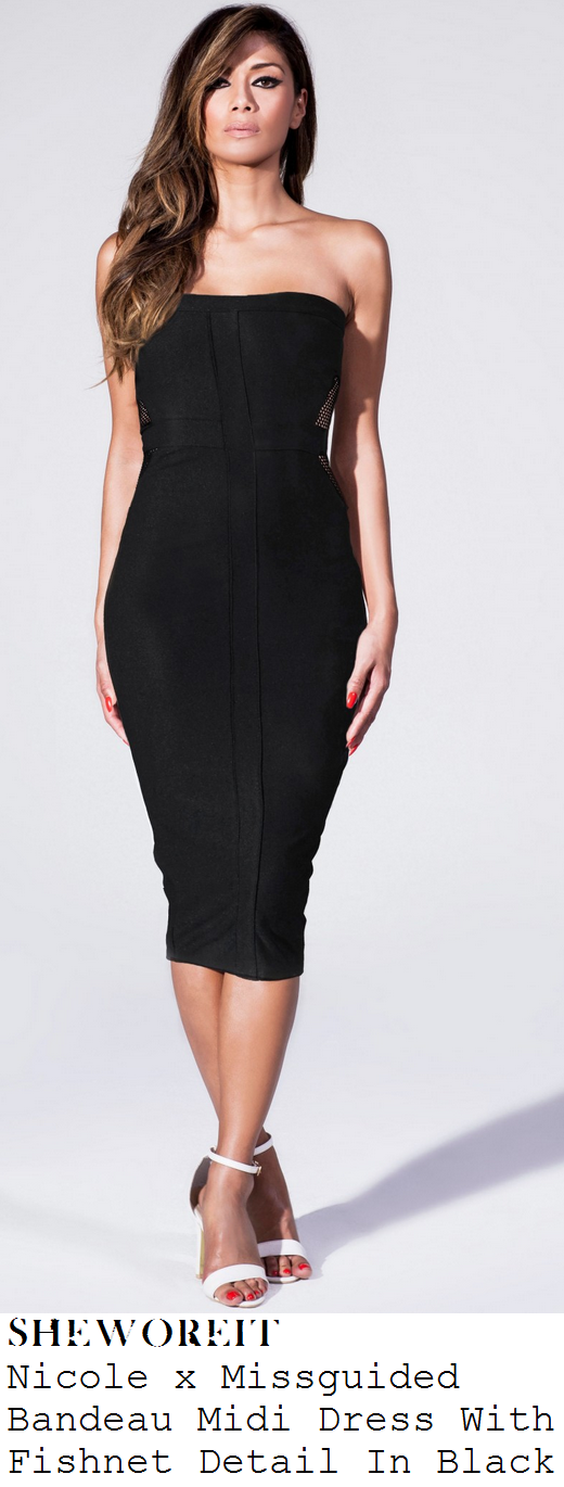 jessica-wright-black-strapless-bandeau-fishnet-mesh-cut-out-detail-bodycon-midi-dress