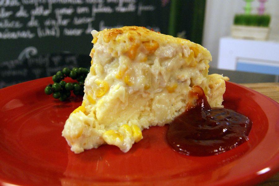 Receita de Torta de Milho com Frango Cremoso
