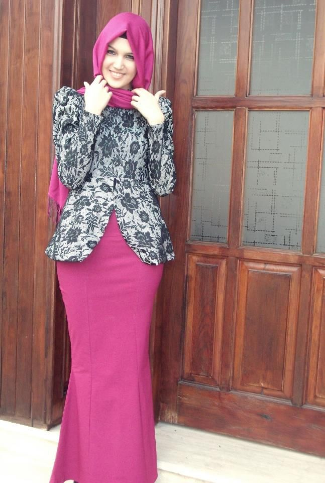 30+ Model Baju Batik Muslim Terbaru 2018 3f992177f0
