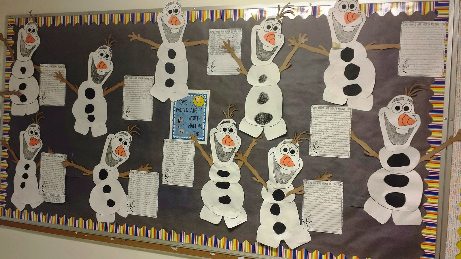 http://www.teacherspayteachers.com/Product/Winter-Writing-FROZEN-Olaf-Themed-Some-People-Are-Worth-Melting-For-1610473