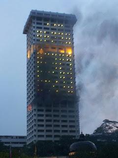 gambar balai polis bukit aman terbakar