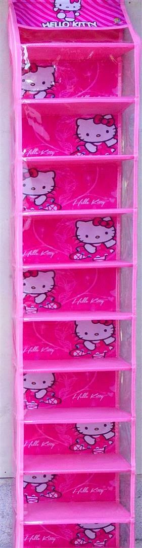 Rak Sepatu Karakter Hello Kitty Pink