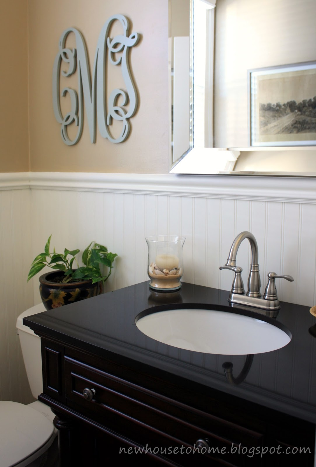 New House to Home: Powder Room Redo