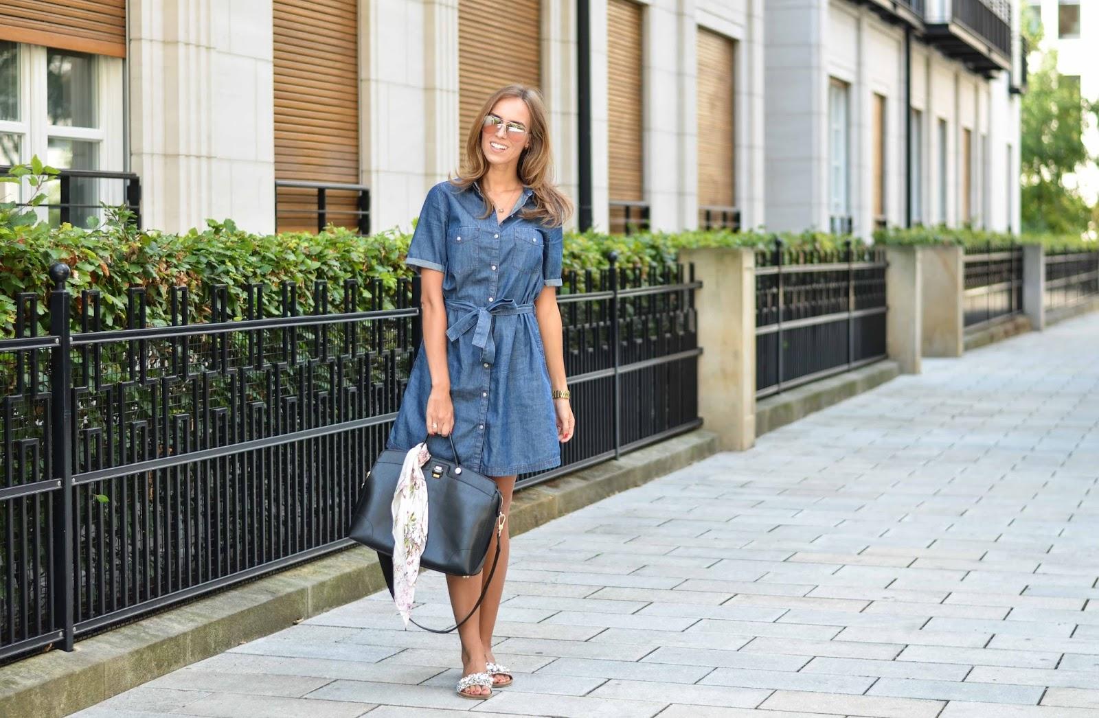 kristjaana mere lindex denim dress 70 style fall outfit