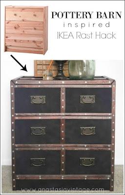Pottery Barn Inspired IKEA Rast Dresser