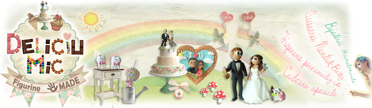 Deliciu Mic, Cadouri personalizate, Figurine tort nunta, Bijuterii Handmade, Lumanari botez