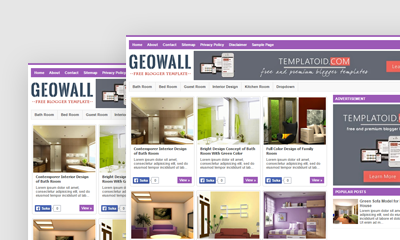 GeoWall Blogger Template