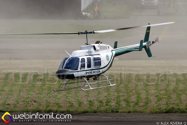 Policia Colombia Bell 206 PNC0923
