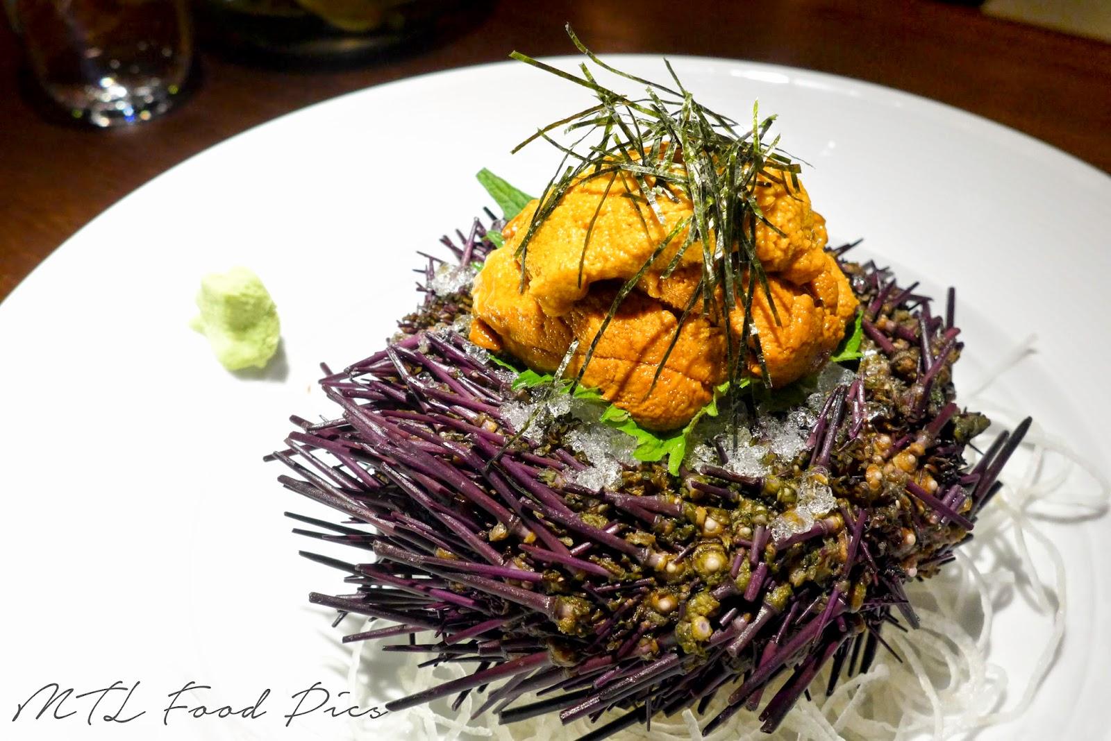 Sea urchin (uni) - sushi montreal