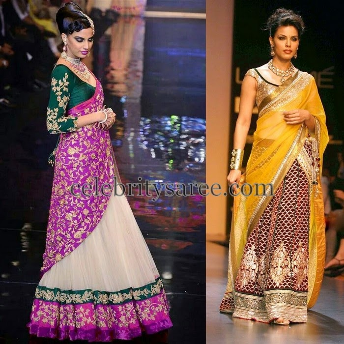 Pallavi Jaikishan Half Saris Collection