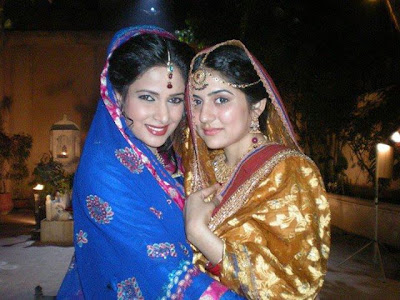 Saba Qamar And Sanam Bloch in Bridal Dress 2013