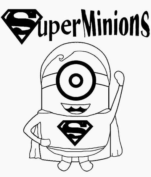 Free Printable Minion Coloring Pages