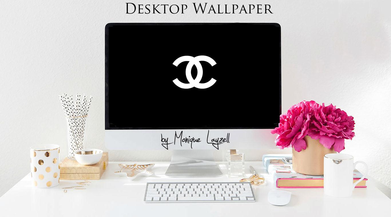COCO Chanel Desktop Wallpaper FREEBIE Pearls Coffee Lets Talk