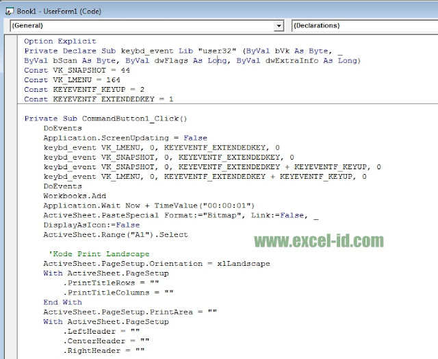 VBA Code Print