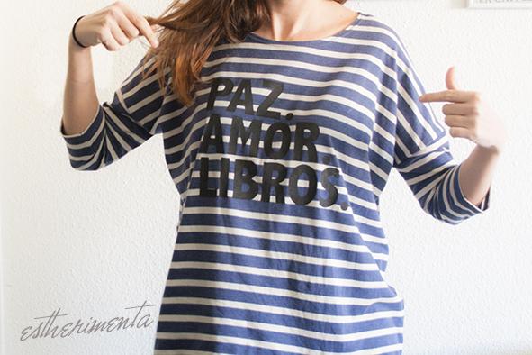 camiseta pintada con estarcido por estherimenta