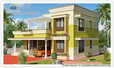 Modern contemporary home elevation - 1800 Sq. Ft