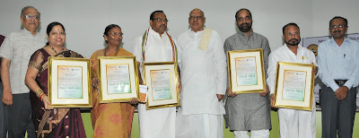 Sansad Ratna Award winning MPs with Governor of Tamil Nadu