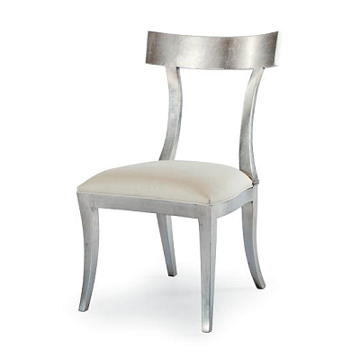Dining chair this chair is shown in a silver leaf finish 339 521
