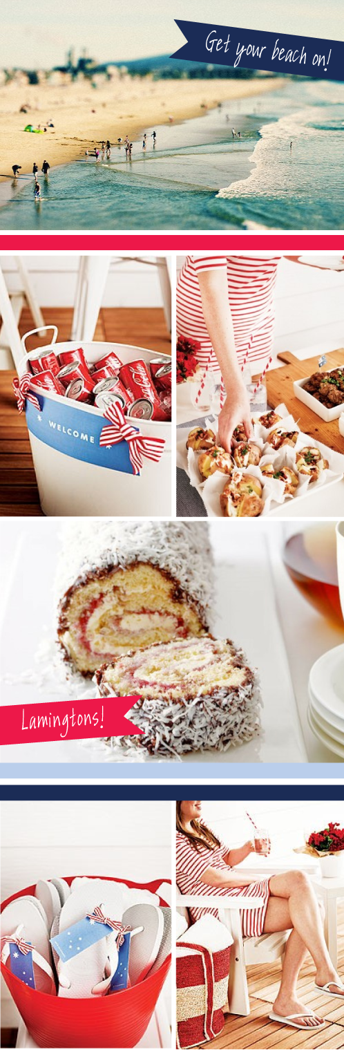 Australia Day Party  Inspiration | via colourfulcarla.com