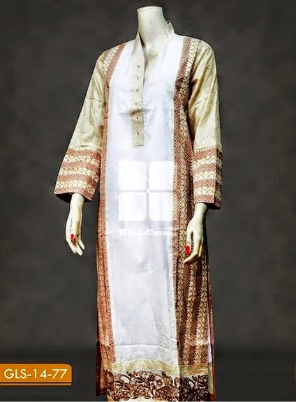 Embroidered Jacquard Kurta's 2014