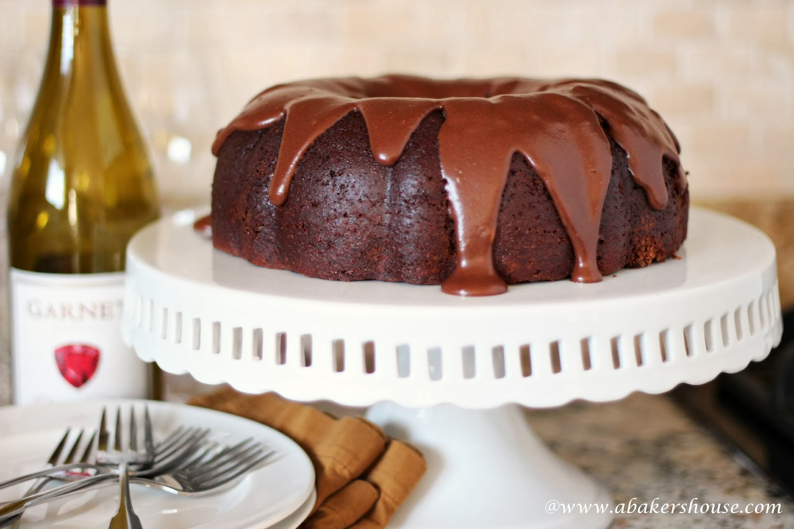 Chocolate and Wine Cake