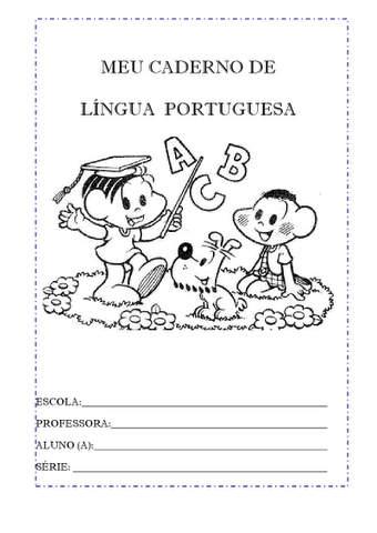 capas de caderno portugues