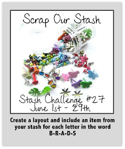 Stash Challenge #27~ Word BRADS