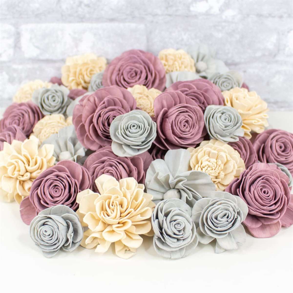 SHABBY CHIC WOOD FLOWERS DIY Craft