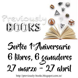 ¡SORTEO POR EL PRIMER ANIVERSARIO DEL BLOG! ¡¡6 GANADORES - 6 LIBROS!!