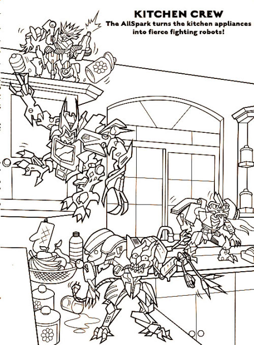 Transformers In Love Coloring Coloring Pages