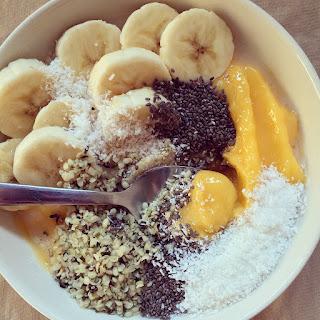bol de smoothie mangue coco chanvre