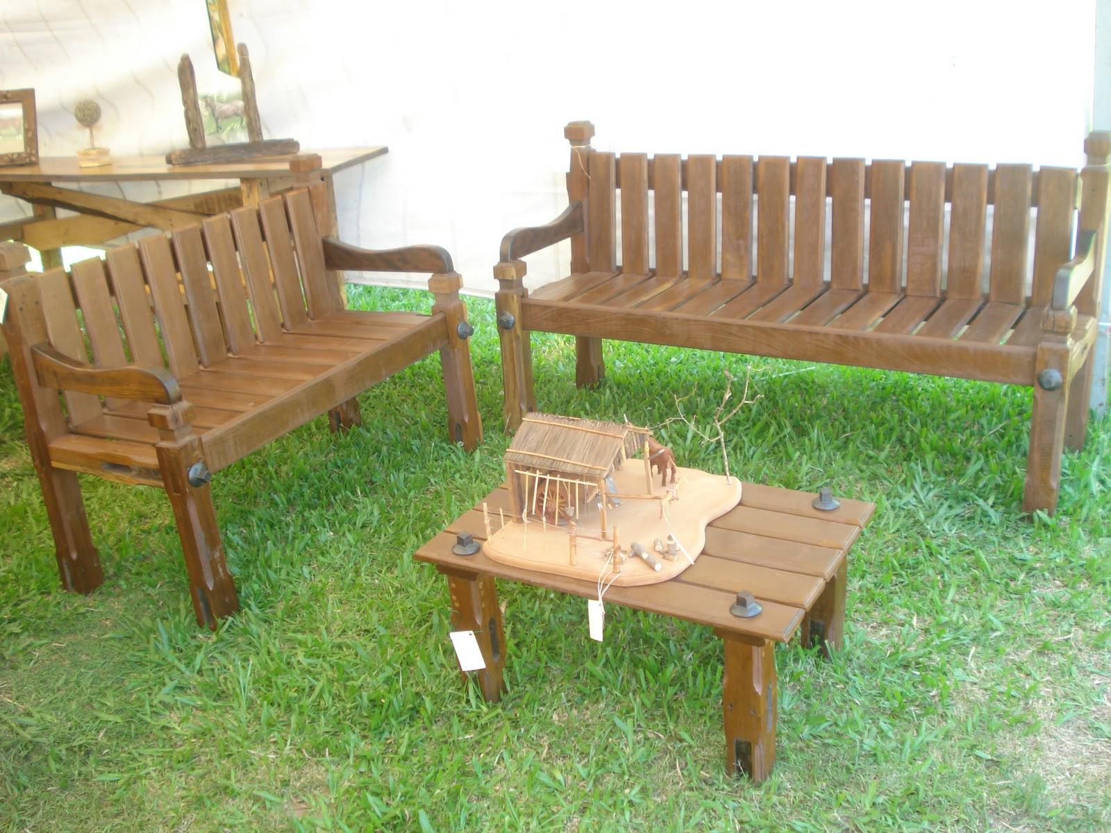 Jerivá Móveis e Artesanato: Conjunto bancos e mesa madeira de  #684924 1600x1200